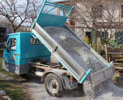 odvoz gradbenega materjala